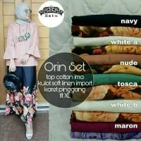 set atasan n celana kulot / baju muslim / baju kerja / orin set