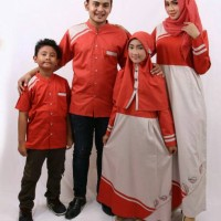 Disc.15% Samara Family Couple D02 warna Merah Bata / Baju Muslim
