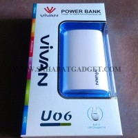 POWER BANK VIVAN U06 6600 MaH WHITE