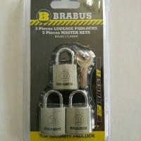gembok kecil - MASTER KEY- BRABUS - 3 gembok 1 kunci