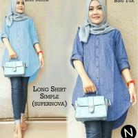 53333 / long shirt simple / atasan muslim wanita / baju Diskon
