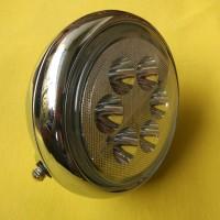 Reflektor Headlamp Head Lamp Lampu Depan Bulat LED Chrome Vixion CB