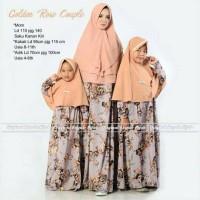 grosir murah baju muslim pasangan golden rose couple ibu dan anak