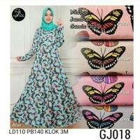 Gamis Dress Jumbo Maxi Butterfly Gj018Misbee Khimas wolfis Murah syari