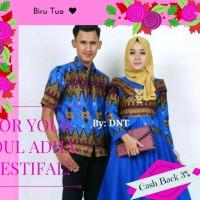 Gamis Pesta murah/ Batik Couple murah/Sarimbit murah Baloteli Biru Tua