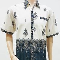 Kemeja / Hem / Atasan / Baju / Seragam Pria Batik 1549 Putih
