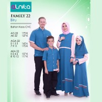 Baju Muslim Couple - Alnita Family 22 Biru - Couple Family