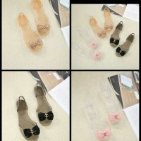 Chanel jelly flat shoes 4040