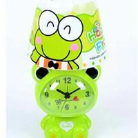 lampu tidur tudung + jam weker karakter Doraemon Hello Kitty keropi