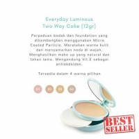 ORIGINAL Wardah Everyday Luminous Two Way Cake TWC Pakai Tempat Kaca