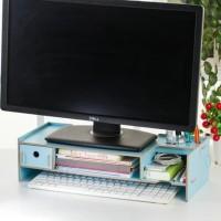 Rak komputer desktop storage meja laptop kayu (lebih kecil) - HLP015
