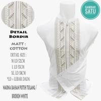 Koko / Kemeja Koko / Baju Muslim Pria Putih Panjang ER02