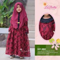 Gamis anak labella baju muslim anak brokat Msi BKC sb