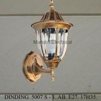 Lampu Dinding Hias Dekorasi Outdoor 5003/S AB-BK