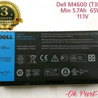 Baterai Battery Laptop Original Dell Precision M4600 M4700 M4800 M6600