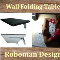 Meja Lipat Dinding / Rak / Meja komputer / Kerja / Murah HPL 50x30cm