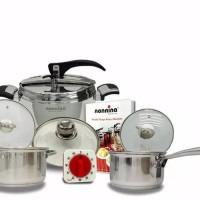 Panci Presto tanpa karet 8L nonnina 8Liter by ISA Pressure cooker