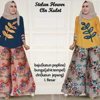 setelan tunik blouse atasan baju muslim hijab celana kulot panjang