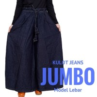 PROMO TERMURAH Celana Panjang Kulot Wanita Muslimah JUMBO Bahan Jeans