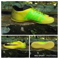 Sepatu futsal  nike mercurial X warna kuning sol componen