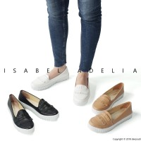 Isabel LUCY Sepatu Wanita Slip On Loafers Putih Coklat Hitam