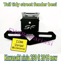 Dudukan plat nomor ninja 250 fi 2018 tail tidy street fender bracket n