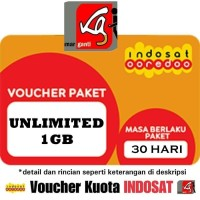 voucher isi ulang kuota indosat im3 1gb unlimited internet 3 1 gb data