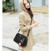 STYLE- TAS SANDANG HAND BAG GREY LIKE ELIZABETH HUSH PUPPIES WANITA