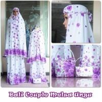 (Busana Muslim Muslimah) Mukena Couple Bali Melsa (Ibu Dan Anak)