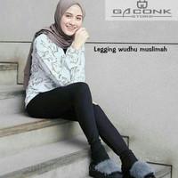 legging wudhu muslimah leging buka model malaika bahan adem premium