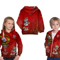 Jaket sweater Anak Fullprint Custom Piala Dunia Russia 2018 : Portugal