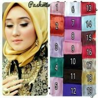 TERMURAH Pashmina Satin Velvet Polos / Jilbab / Hijab ( Hitam, Silver,