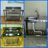 Kitchen Set minimalis Stainless Steel Medan