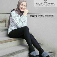 T2105 legging wudhu muslimah leging buka model malaika bahan adem prem