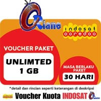 voucher isi ulang kuota indosat im3 1gb unlimited internet 3 1 gb da
