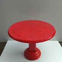 Meja Giok merah ukir Naga China