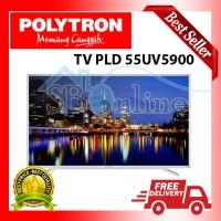 LED SMART TV 4K UHD POLYTRON PLD-55UV5900 DISKON
