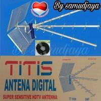 antena tv titis tt1000 dan kabel rg6 18meter tinggal colok