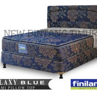 Spring Bed Finiland Galaxy Blue Pillow Top 160 x 200 Full Set