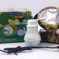 HEAD LAMP/ SENTER KEPALA KISEKI CK298 + CHARGER + BONUS LAMPU