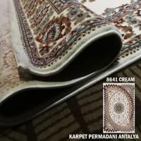 Promo Karpet Antalya Turki Karpet Permadani 80 x 150 cm Cream