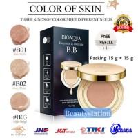 Bedak Bioaqua BB Cream Gold Cushion Exquisite & Delicate + Refill