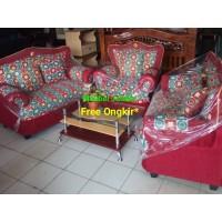 Sofa Kupu-Kupu Minimalis MS Seat 221 + Meja Kaca - Kursi Cantik Murah