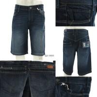 Celana Jeans Pendek Cowok Biru Tua Tripl3 29-36 [043001951]