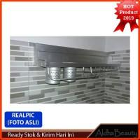 267 Rak Dinding Dapur Aluminium size 60x12,5x10cm Super KUAT