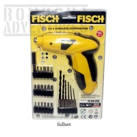 FISCH CORDLESS SCREWDRIVER / ALAT MESIN OBENG BOR PORTABLE TS 601200