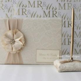 Guest book Wedding Shabby
