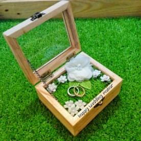 Kotak mahar cincin pernikahan wedding nikah kawin kayu