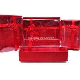 Kotak Seserahan / Sangjit Pernikahan Isi 4 - Premium Mika Sedang - Perak