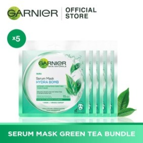 Garnier Serum Mask Green Tea Bundle